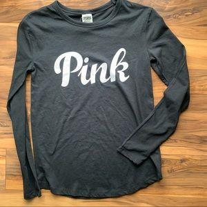 Pink Victoria's Secret long sleeve T-shirt xS